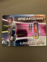 2019 Bowman Chrome Draft Pick Breakdown #9 Shea Langeliers - Atlanta Braves