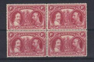BARBADOS 1927 GV TERCENTENARY OF SETTLEMENT SG240 BLOCK OF 4 LMM