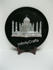 10 Inches Marble Decorative Plate Peitra Dura Art Decent Look Table Master Piece