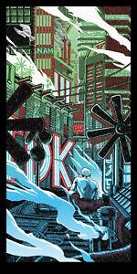 "BLADE RUNNER ""TEARS IN RAIN"" silkscreen print by Tim Doyle Nakatomi Artist"