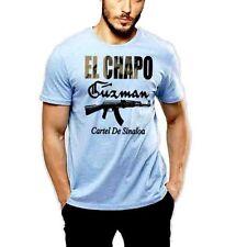 El Chapo Guzman T-Shirt Sinaloa Cartel Mexico Mexican Drug Lord Men Cotton