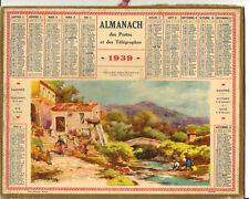 Almanach 1939. Vallée près Menton (Alpes Maritimes).