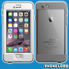 Genuine Lifeproof Nuud Nüüd case for iPhone 6 White Clear tough waterproof new