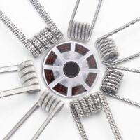 48pc Coils Wire Prebuilt Spiral Fused Clapton Twist Vape Coil RDA RTA DIY Vaping