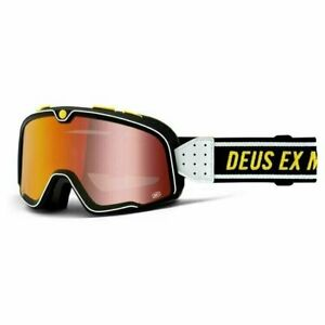 100% BARSTOW Goggles - DEUS - Red Mirror Lens - FREE PRIORITY SHIPPING