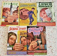 ANDREW CLEMENTS CHAPTER BOOK LOT CHILDRENS KIDS PAPERBACK 5 BOOK LOT