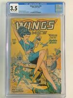 Wings Comics 93 - CGC 3.5 - GGA (Good Girl Art) Bob Lubbers Cover & Art
