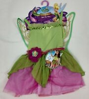 Disney Fairies Finks Pixie Costume Green Dress Fantasy Girls Size 4-6X NEW