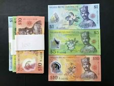 Brunei - 1 set  of  $1 + $5 + $10 Collection   | UNC ( 1 set RM65 )