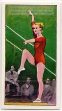 Gymnastics Polina Astakhova Ussr 1960 Olympic Gold Medal Vintage Trade Card