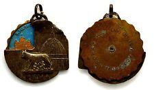 Medaglia Girevole Con Vernici Roma (Cas Tab Roma) Metallo Argentato-Bronzo