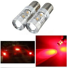 2x 50W CREE LED P21W 1156 BA15S No Error  Reverse Brake Indicator Light Bulb Red