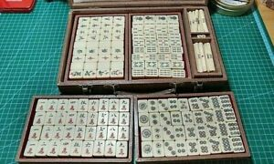 Mahjong Tiles Mini Size for Travel Cute Yellow Design with Box