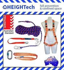 15m HEIGHTech Roofers Safety Harness Kit with 1.5m Lanyard Shock Absorber