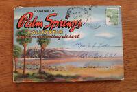 c1948 Vintage Palm Springs California Color Fold Out Souvenir Folder Postcards