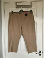 BNWT M&S Collection Women's Coffee Slim Cropped Trousers Size 18 Short