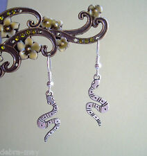 Snake Serpent Short Drop Dangly Earrings - Goth Rock Punk Temptation