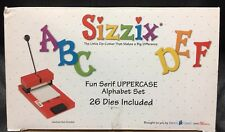 NEW Sizzix FUN SERIF Uppercase Alphabet Die Cut Collection 26 Die Lot A-Z Letter