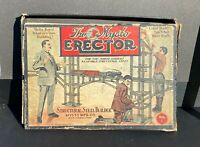 Antique Erector Set No.1 In Original Box With Wear Collectible Toy