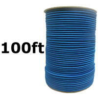 "100ft 1/4"" Blue Bungee Cord Marine Grade Heavy Duty Shock Rope Tie Down Stretch"