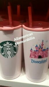2021 NEW Disney Parks pink Starbucks Disneyland Tumbler Coffee Cup Mug lid Straw