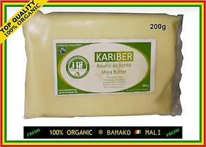 100% FRESH PURE NATURAL BIO ORGANIC SHEA BUTTER KARITE TOP QUALITY ANTI AGE 200g