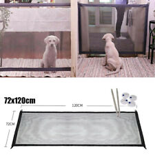 New listing Pet Dog Gate Door Woven Mesh Barrier Safe Guard Fence Enclosure Immediate Use