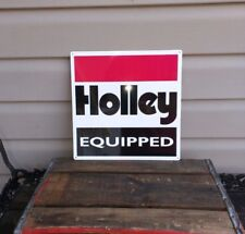 Holley Equipped Metal Sign Carburetor Garage Shop Gasoline gas oil 12x12 50089