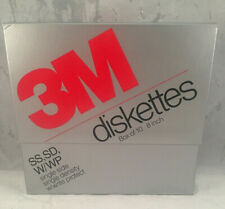 """3M Diskettes SS SD W/WP 8"""" Single Side Density Write Protect Open  Box of 10"""