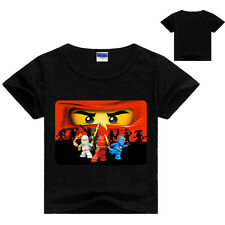 Kids Boy Ninjago Summer Cotton Short Sleeve T-shirt Children Clothing 6-7Years