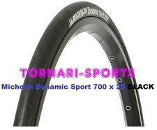 PAIR 700C Michelin Dynamic Sport Road Bike Tyre BLACK 700 x 25 cycle racing 25mm