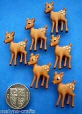 BAMBI Craft Buttons Forest Baby Deer Fawn Doe Christmas Novelty Babies Disney