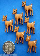 BAMBI Craft Buttons 1ST CLASS POST Forest Baby Deer Fawn Doe Christmas Disney