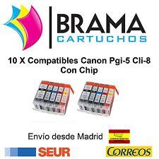 10X COMPATIBLES PARA CANON NON OEM PIXMA Ip3300 Ip3500 Ip4200 Ip4300  CON CHIP
