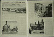 Seaton Sluice Derelict Port Of The Sea Coal Trade 1960 2 Page Photo Article