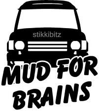 Fun Discovery 4x4 Land Rover 4x4 Mud For Brains Tdi TD5 Sticker LA8