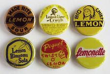 Lemon Soda FRIDGE MAGNET Set (1.25 inches each) sign crush