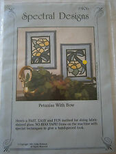 Petunias With Bow FABRIC Stained Glass Quilt Craft Sewing Pattern Wall Hanging