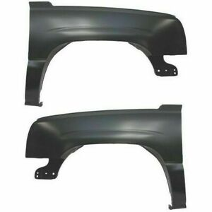 New Set of 2 Front Left and Right Fender For Chevrolet Silverado 1500 03-06