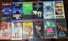 12 Horror movie lot! VHS The Thing, The Omen, IT, Prom Night, Christine, Blob...