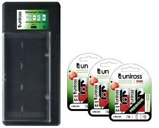 UNiROSS UNIVERSAL AA/AAA/C/D/PP3 BATTERY CHARGER+ 12 x AA 2400 HYBRIO BATTERIES
