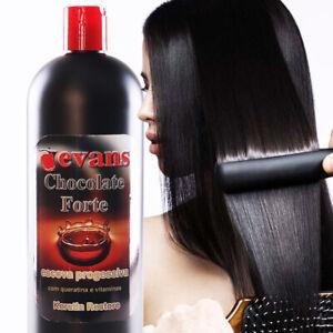 evans Brazilian Keratina Treatment CHOCOLATE Straighter hair w/ vitaminas 1 L