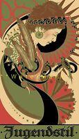 Secession 1902 Ausstellung Vienna Jugendstil Art Nouveau Vintage Poster Print