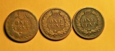 +  1888 1889 1890 INDIAN HEAD PENNIES CENTS  EARLY COPPER BETTER DATES +