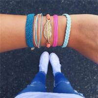 Charming Anklet Wristband Hand-Woven Rope Chains Charm Bracelet Jewelry H