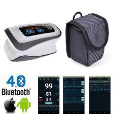 Pulsometro Oximetro Pulso Oxigeno Dedo Bluetooth Saturometro Pulsioximetro