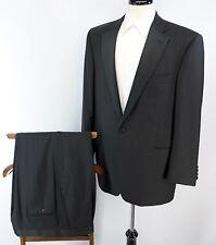 Jack Victor Super 100s Italian Wool Black Tuxedo Suit Made in Canada 42R 36 x 30