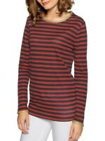 TOMMY HILFIGER ROBINA STRIPE LONG SLEEVE TOP LADIES WOMENS SIZE S £79 T-SHIRT