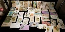 Lot150+ Beautiful Old Easter and other Cards. lots early 1900's antique+ embosed