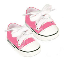 Pink Canvas Sneakers Fits 18 inch American Girl Dolls